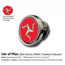 Isle of Man Ellan Vannin MANX LAPEL PIN BADGE TT RACER RACES Birthday PRESENT