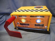 Vintage Rockwell NYC Taxi Cab Hack Meter Yellow Refinished For Display Lighted56