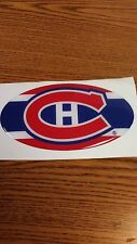 "NHL MONTREAL CANADIENS CAR/BUMPER STICKER 5 1/2""X 3 1/2"" OVAL NICE !"