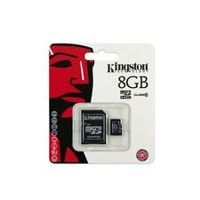 Genuine 8GB Kingston Micro SD SDHC Memory Card Reader Stick & Adapter