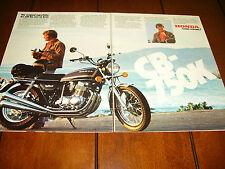 1977 HONDA CB750  ***ORIGINAL 2 PAGE AD*** CB 750K