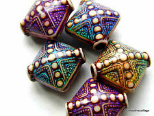 Aurora Mood / Mirage Beads STRAND Of 10 Beads measures 15mm square 2mm hole size