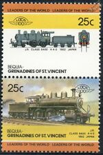 1902 JNR Class 6400 4-4-0 Japanese National Railways Train Stamps / LOCO 100
