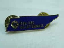 Vecchia spilla LIONS CLUBS 100% attendance 1988 1989 spilletta pin