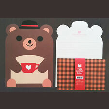So Cute Mr.Bear Animals Letter set - 4sh Writing Stationery Paper 2sh Envelope