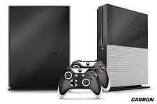 Designer Skin for XBOX ONE S 1S Gaming Console+2 Controller Sticker Decal CARBON