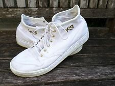 Y-3 Yohji Yamamoto Hayworth 12 white canvas gold high top sneakers trainers 12.5