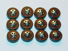 Hot Wheels Redline WHEELS Large Black Cap Set of 12 -New Mold!