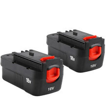2Pack 18V 2000mAh Battery for Black & Decker HPB18-OPE 244760-00 A1718 FS18BX
