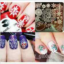 Nail Art Schablone Plates Stamping Nagel Tattoo Stamp Stempel Christmas Y005