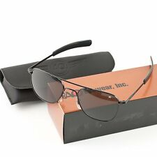AO American Optical Military Aviator Black Frames 52 mm Sunglasses Gray Lens