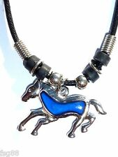 NEW Horse Color Change Heat Thermo Mood Pendant  Necklace