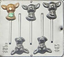 Reindeer Lollipop Chocolate Candy Mold Christmas 2032 NEW
