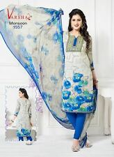 Salwar Kameez Chudidar Suit Indian Bollywood Pakistani Unstitched Synthetic Crea
