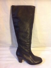 Vagabond Black Knee High Leather Boots Size 36