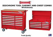SIDCHROME ROLLER CABINET 13 DRAWER WIDEBODY + 8 CHEST TOOL BOX - COMBO! SPECIAL