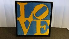"""ROBERT INDIANA YARN ON BOARD """"SWEDISH LOVE"""",LIMITED EDITION """"LO""""OVER""""VE""""NUMBERED"""