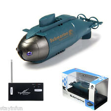 Mini RC Boats Radio Remote Control Wireless Submarine Pigboat Model Toys Blue