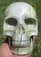 5LB 14.7OZ Stunning Natural New Jade Crystal Carving Art Skull