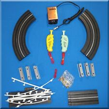ATLAS HO SCALE SLOT CAR RACING TRACK SET 1202 OVER & UNDER READY TO RACE LAYOUT