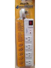 NEW 4 WAY SURGE PROTECTOR POWER BOARD - 4 OUTLETS WITH MASTER ON / OFF SWITCH