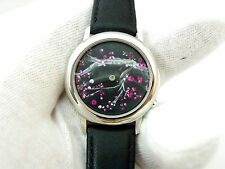 """HAND PAINTED 3D DIAL """"Animated Cherri Blossoms"""",Series 2, #1,MEN'S WATCH 1932"""