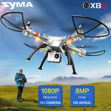 Syma X8G Quadcopter Drones 2.4Ghz 6Axis w/ 8MP HD Camera Headless Mode & Battery