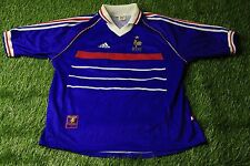 FRANCE NATIONAL TEAM 1998/2000 RARE FOOTBALL SHIRT JERSEY HOME ADIDAS ORIGINAL