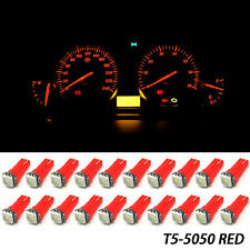 20x T5 37 70 Red LED Dashboard Instrument Panel Indicator Lights Bulbs for Honda