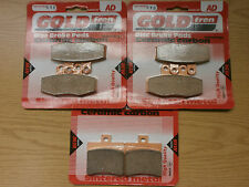 APRILIA SPORT CUBE BLACKLINE   FRONT & REAR BRAKE PADS SET   SINTERED HH CERAMIC