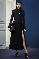 New Versace Runway Long Wool Black Coat It. size 40