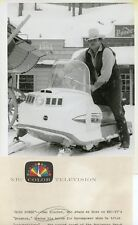DAN BLOCKER RIDES VOYAGER SKI MOBILE BONANZA ORIGINAL 1966 NBC TV PHOTO