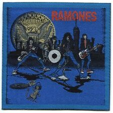 RAMONES cartoon blue EMBROIDERED PATCH Iron on / sew Free Shipping punk the joey