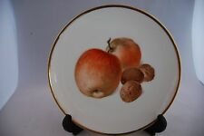 Bavaria  Thomas  Plate  Gilt rim Apples and Walnuts design