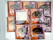 Cheapest bulk 10 sets of professional acoustic guitar strings 13-56 AG247 Janika