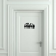 Toilet Gossip Door Decal Funny Sign Toilet Door Sticker Toilet Sign Sticker