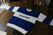 NEW W/TAGS VINTAGE CBS SPORTS X-LARGE BLUE & WHITE SWEATSHIRT