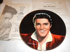 "Delphi Elvis Portriats of the King plates - ""Just Because"" plate #7 - nib"