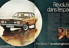 PUBLICITE ADVERTISING 065 1970  FORD  ( 2p) LA TAUNUS  GXL