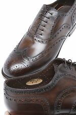 SANTONI *Limited Editions* Goodyear Welted Leather Wingtip Mens Shoes 6UK/7US