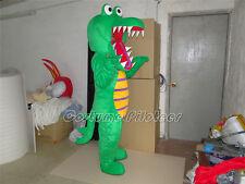 New Professional Big Crocodile Alligator Mascot Costume Fancy Dress Adult Size