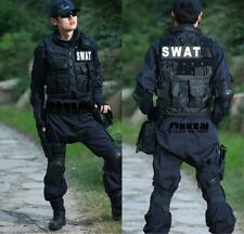 Men's SWAT Airsoft Tactical Vest Hunting Combat Vest  Sport Hunting Vest Black