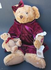 "rb1 Vintage Edition LADY VICTORIA Russ Berrie PLUSH TEDDY BEAR 21"" HUGE retired"