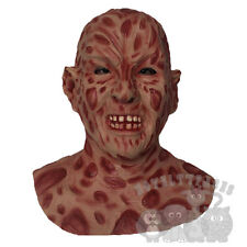 Famous Halloween Movie Character Burn Face Body with Chest Latex Party Prop Mask