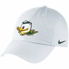 "Nike Oregon Ducks Mascot Heritage 86 Adjustable White Hat ""Free Shipping in USA"""