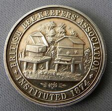 1928 Sterling British Bee Keepers' Association Watch Fob Awards Medal