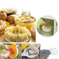 DIY Microwave Oven Baked Potato Chips Non-fried Home Maker Machine Slicer Plate