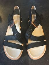 Women's Merrell Black Wedge Sandals Shoes Size 5