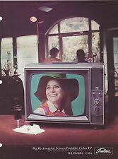 VINTAGE AD SHEET #2851 1970s TOSHIBA  PORTABLE TV - THE RIVIERA