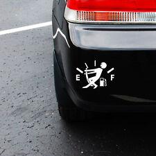 High Gas Consumption Decal Fuel Gage Empty Funny Car Vinyl Sticker Window